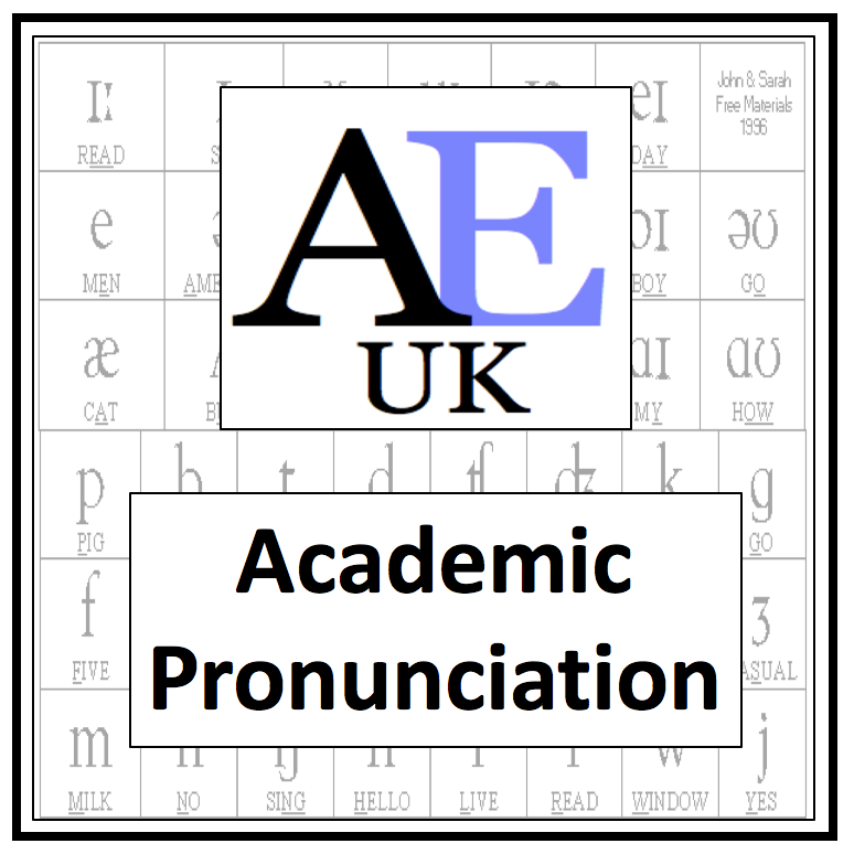 Academic English Pronunciation worksheets
