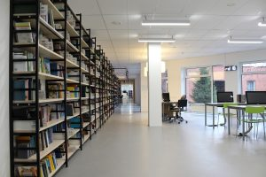 a university library and reading skills