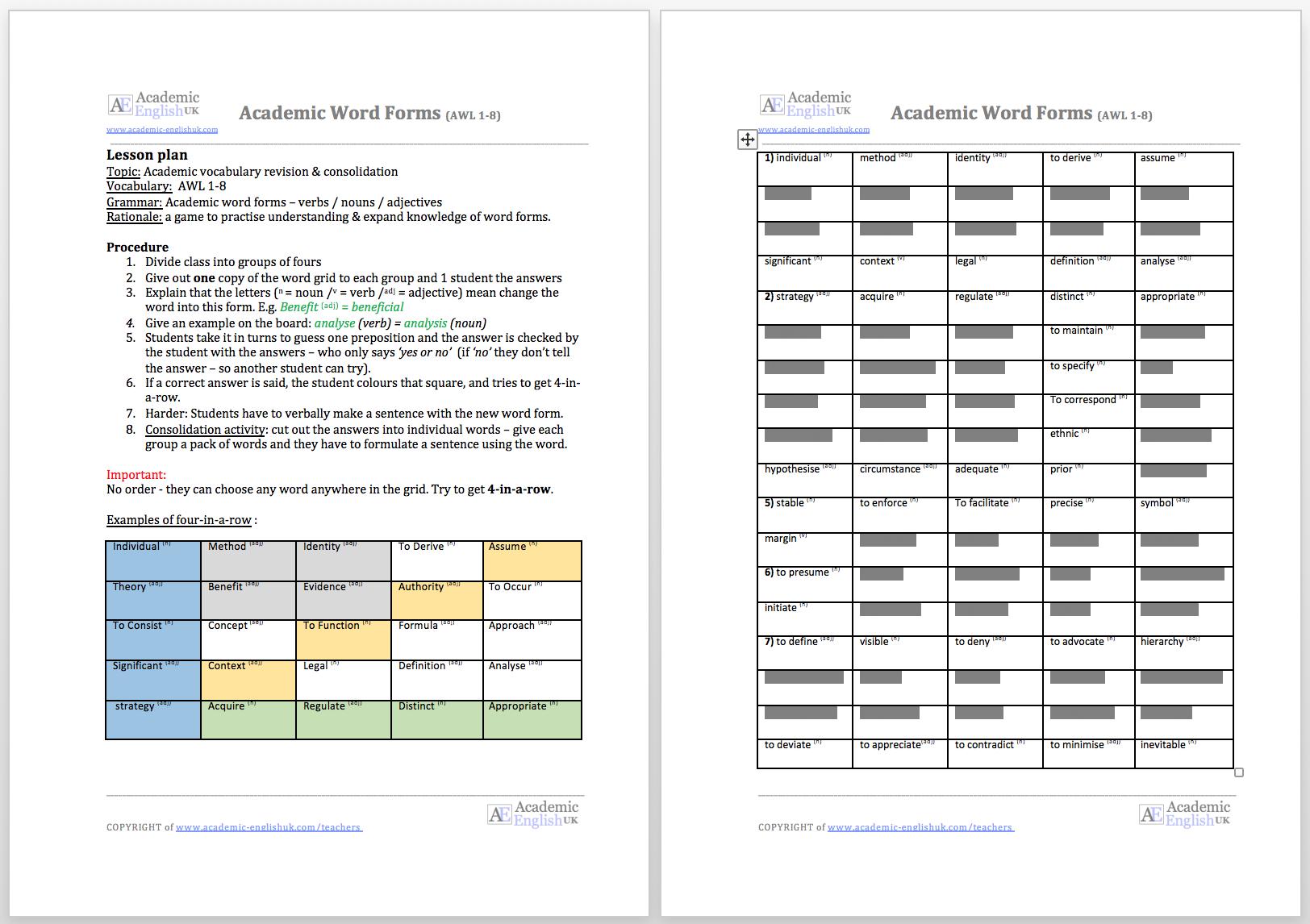 Workbooks text structure practice worksheets : Academic Grammar