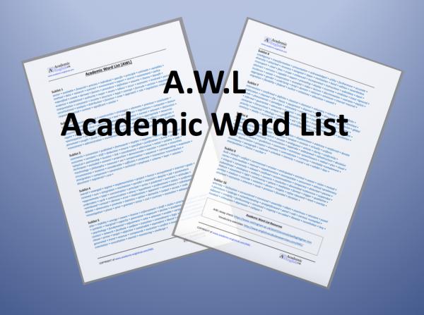 AWL, academic Word List