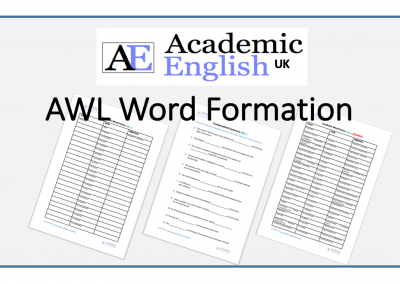Academic Word Formation