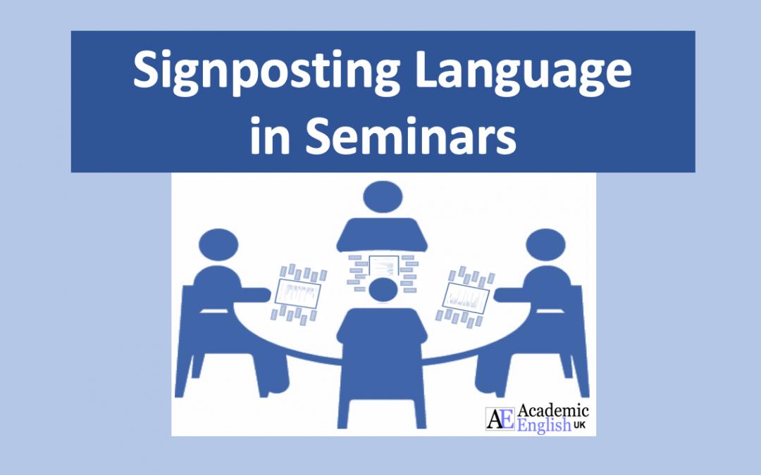 Seminar signposting language AEUK