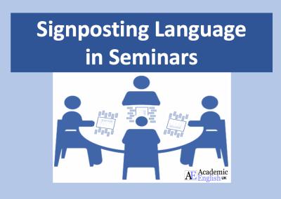 Seminar Signposting Language