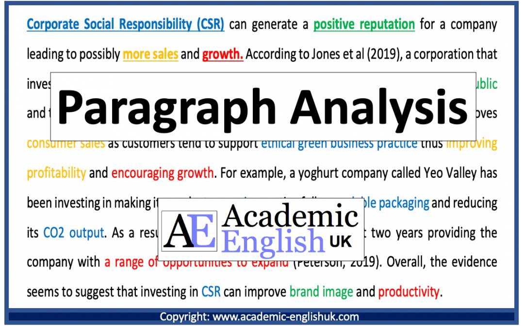Paragraph analysis
