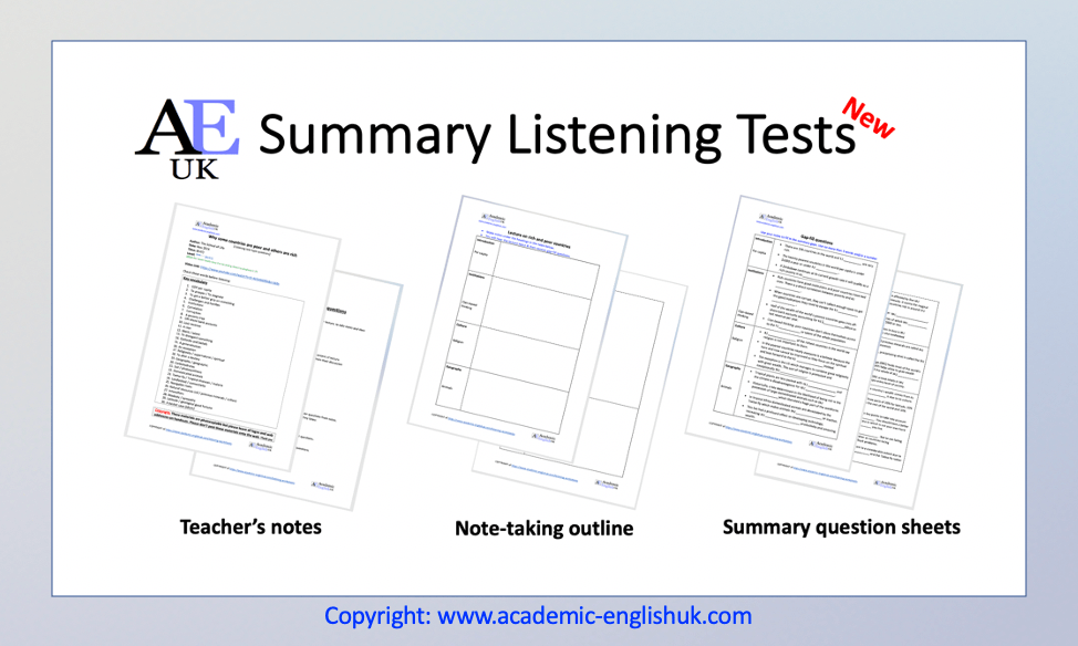 Summary Listening Tests