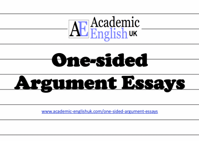 One-sided Argument Essays