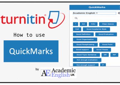 Turnitin Quickmarks
