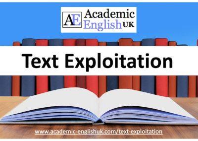 Text Exploitation