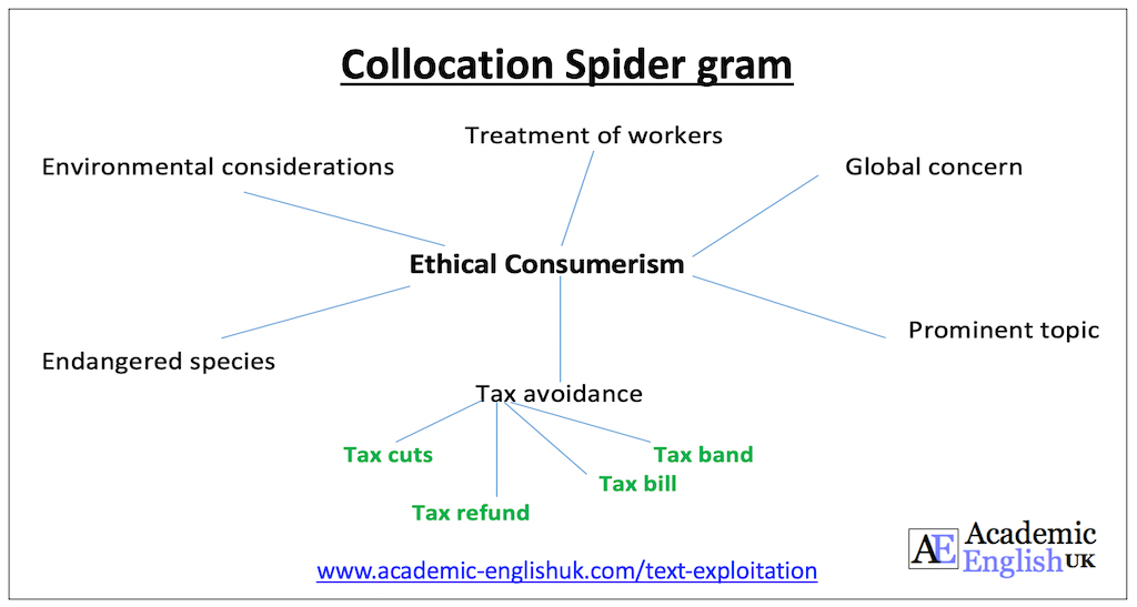 annotating a text - a spider gram academic English