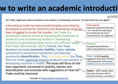 How to write an academic introduction