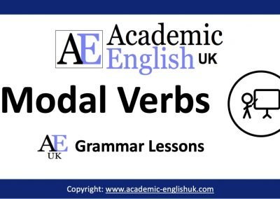 Academic Modal Verbs