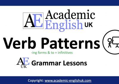 Verb Patterns Blog