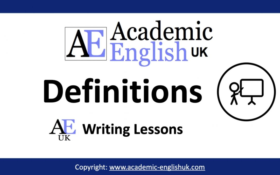 Academic Definitions