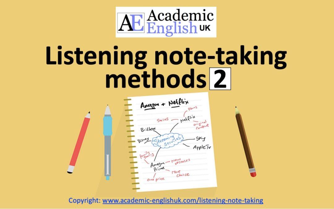 Listening note-taking methods 2